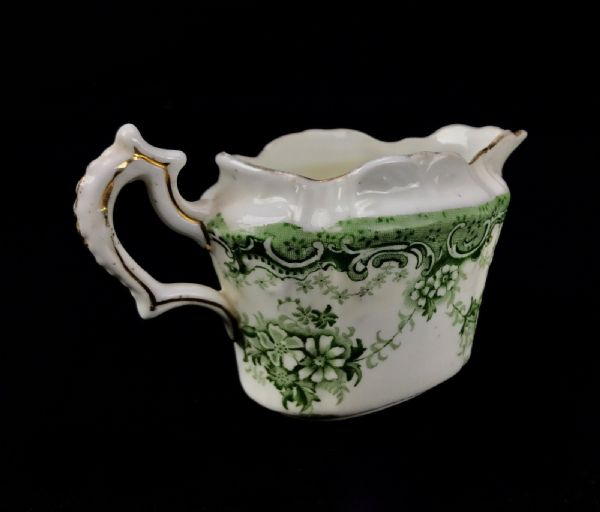 Edwardian The Paragon China Tea Set / The Star Service / Green And White For 1